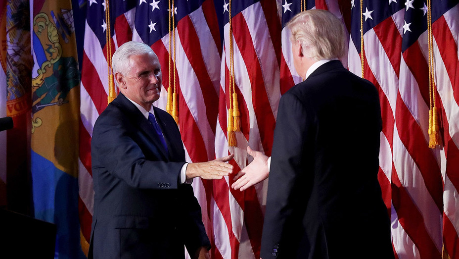 Mike Pence_Donald Trump Onstage - Getty - H 2016