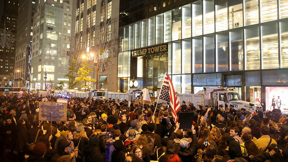 NOVEMBER 10 Protest at Trump Tower 2 - Getty - H - 2016