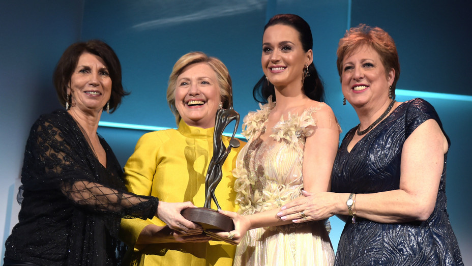 Hillary Clinton, Katy Perry at UNICEF Snowflake Ball - Getty - H 2016
