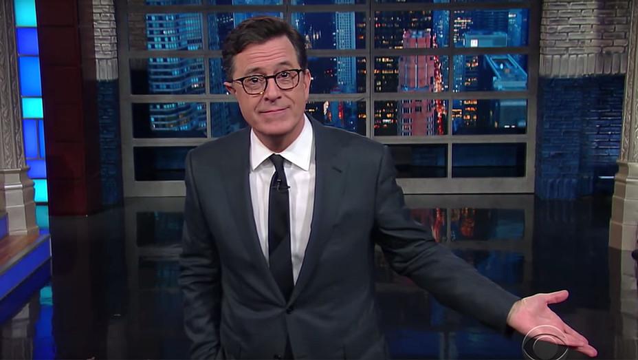 Stephen Colbert-President-Elect Trump Is Tweeting To Relieve Pressure -Screen shot H 2016