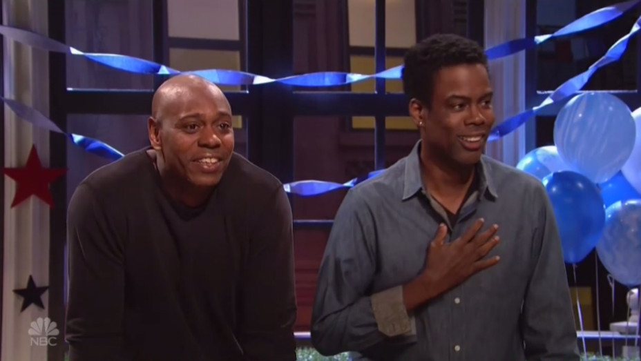 Chris Rock with Dave Chappelle on SNL - H 2016