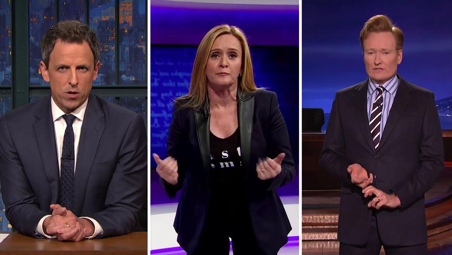 Seth Meyers_Samantha Bee_Conan O'Brien_Somber_Split - Publicity - H 2016