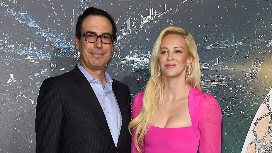 Steve Mnuchin and Louise Linton - Jupiter Ascending - Getty - H - 2016