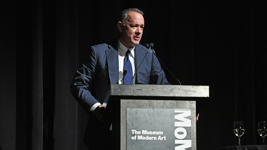 Tom Hanks at the MoMA Film Benefit - Getty - H 2016