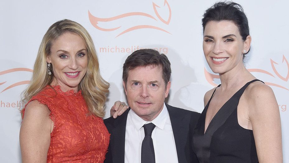 Tracy Pollan Michael J. Fox Julianna Margulies - A Funny Thing Happened - Getty - H - 2016