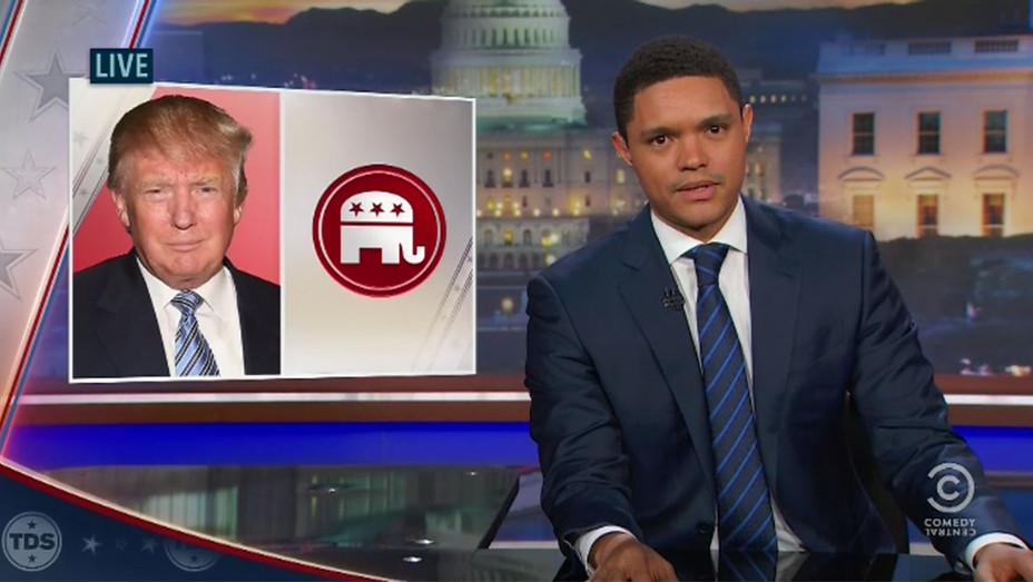 Trevor Noah Daily Show Trump Grab - H 2016