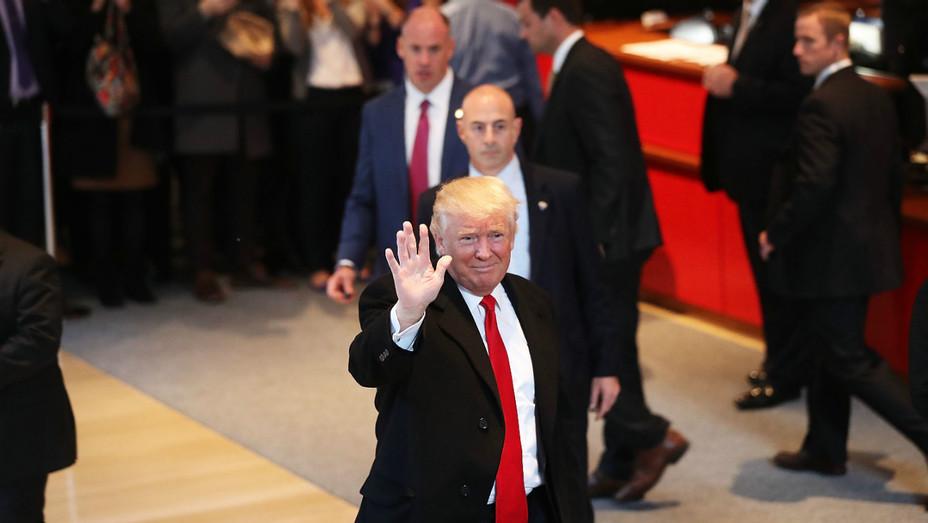 Donald Trump NYT lobby Getty 2016 - H