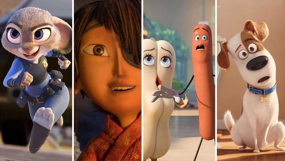 Zootopia-Kubo and the Two Strings - Sausage Party -Secret Life of Pets - Split-H 2016