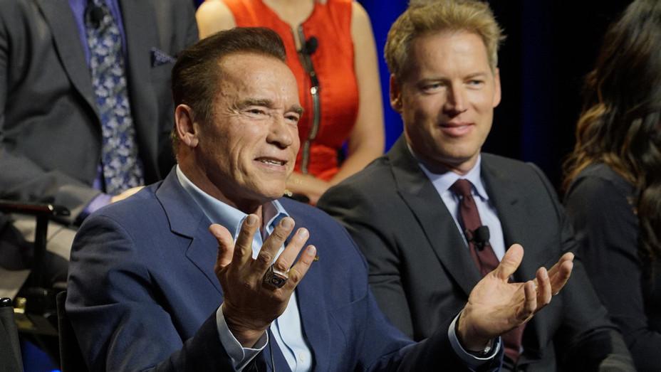 Arnold and Patrick Knapp Schwartzenegger Apprentice_Publicity - H 2016
