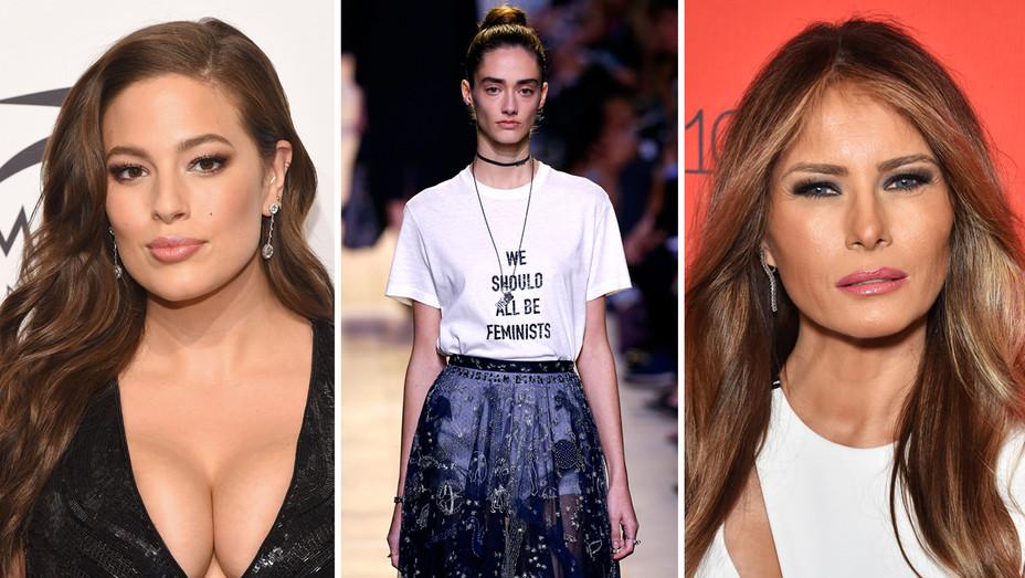 Ashley Graham Dior Runway Melania Trump_getty - H Split 2016