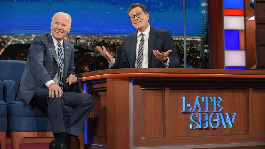 Biden and Colbert - Still - The late Show - H - 2016