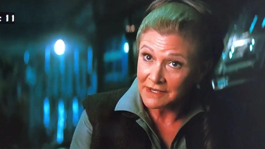 Carrie Fisher Force Awakens Cut - H 2016