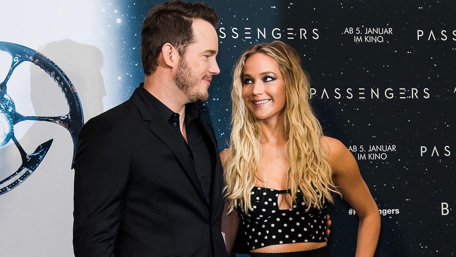 Chris Pratt and Jennifer Lawrence - Getty - H 2016