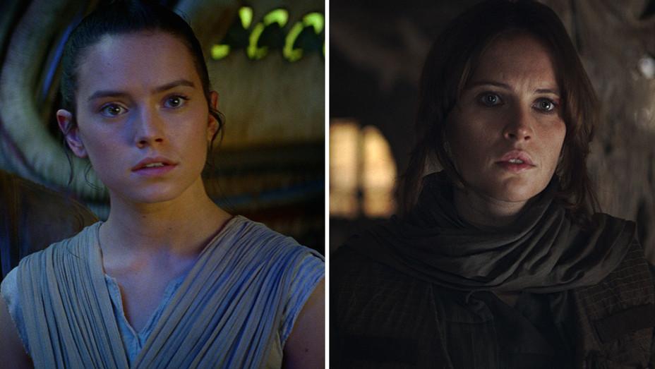 Daisy Ridley_Felicity Jones_Star Wars_Split - Publicity - H 2016