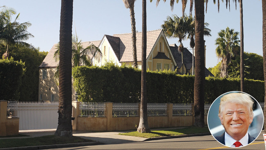 Donald Trump's Beverly Hills Home inset of Trump - Getty-H 2016