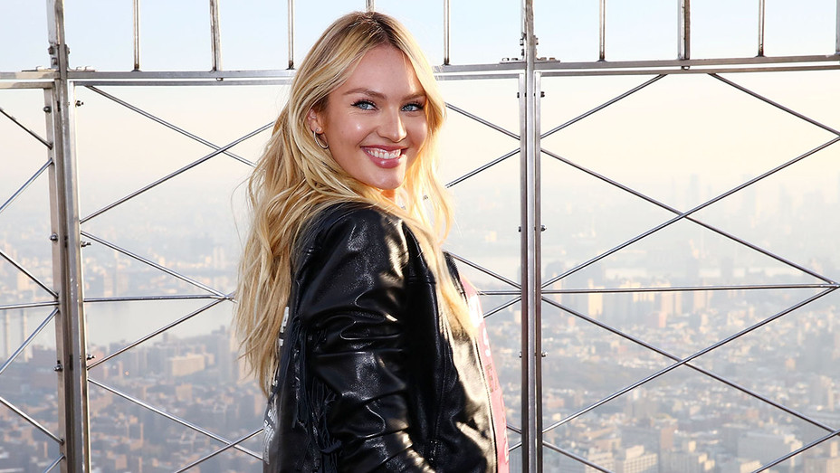 Candice Swanepoel - Empire State Building - Getty-H 2016
