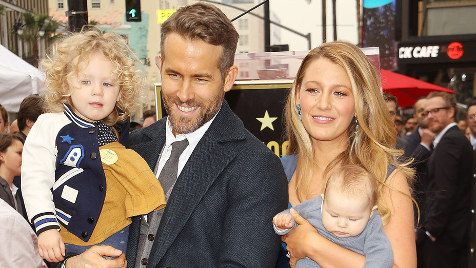 Ryan Reynolds and Blake Lively with daughters-The Hollywood Walk of Fame Star-Getty-H 2016