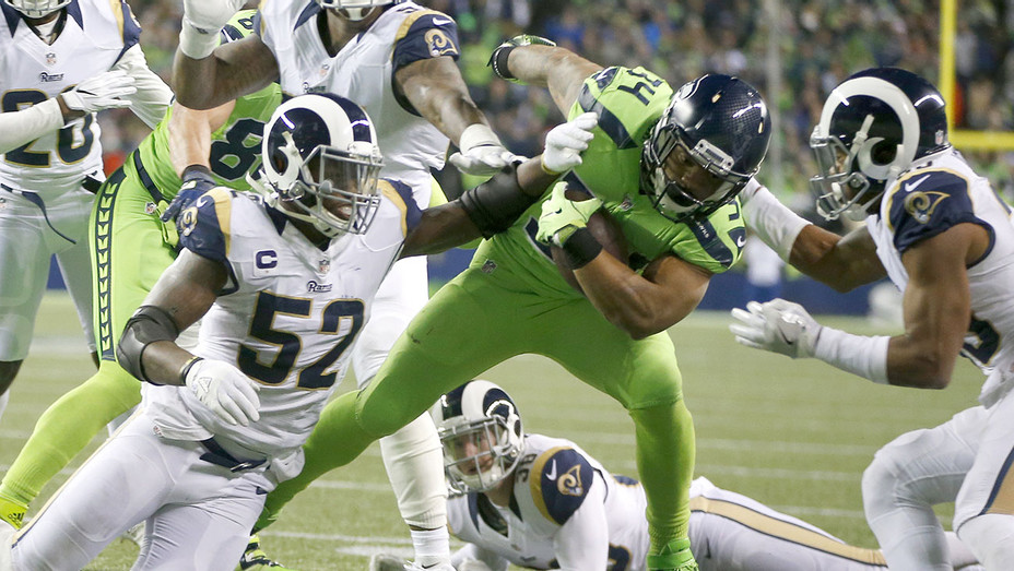 Seattle Seahawks rushes against the Los Angeles Rams - Getty - H 2016