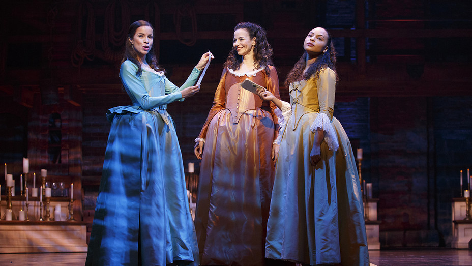 Hamilton Broadway Lexi Lawson, Mandy Gonzalez Jasmine Cephas Jones H 2016