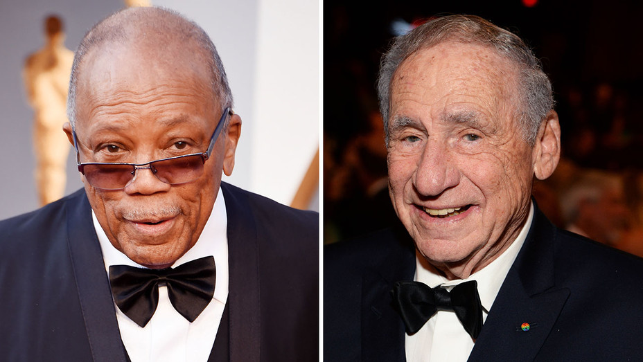 Quincy Jones and Mel Brooks_Split - Getty - H 2016