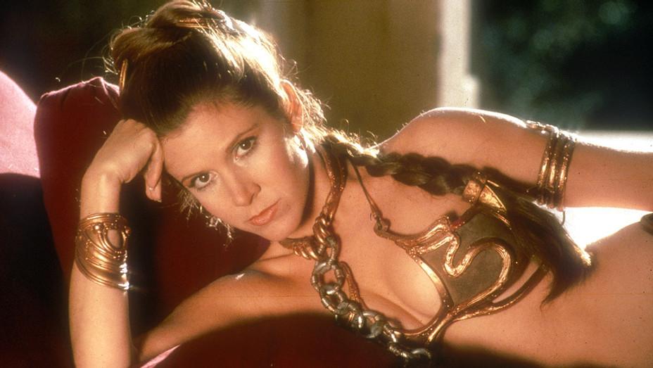 Star Wars- Return of the Jedi (1983) Episode VI - gold slave bikini- Carrie Fisher- H 2016