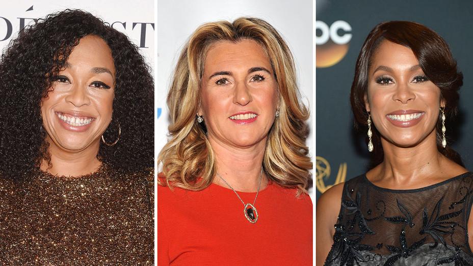 Shonda Rhimes, Nancy Dubuc and Channing Dungey_Split - Getty - H 2016