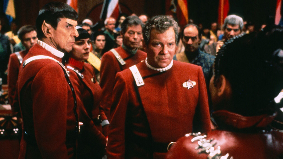 Star Trek VI The Undiscovered Country 1991- Leonard Nimoy and William Shatner-Photofest-H 2016