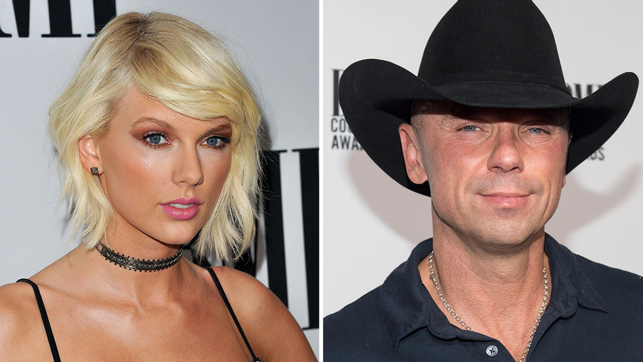 Taylor Swift and Kenny Chesney_Split - Getty - H 2016