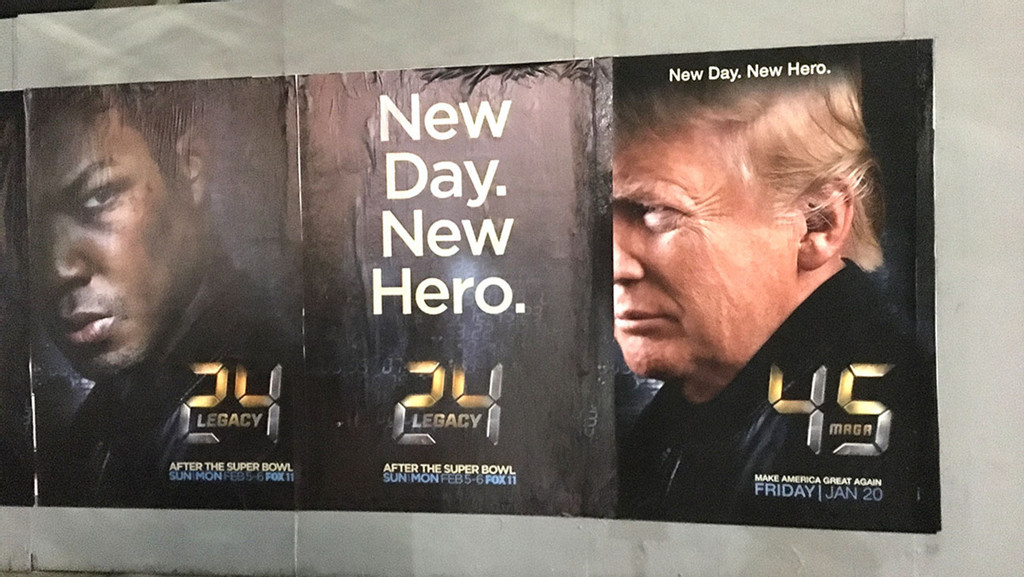Inauguration: Street Artist Targets Hollywood Anti-Trumpers With '24' Spoof Posters