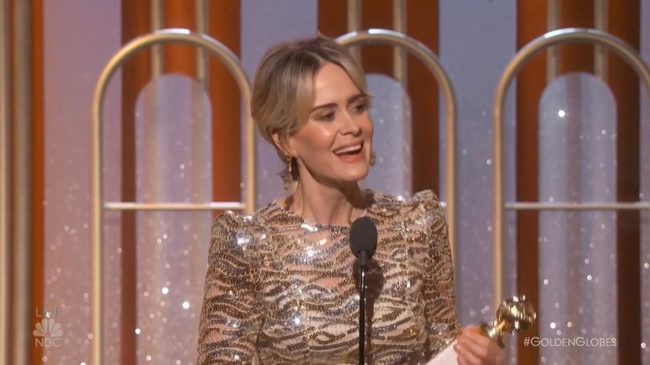 Golden Globes 2017 Sarah Paulson Wins Best Actress Limited Series For People V O J Simpson Hollywood Reporter