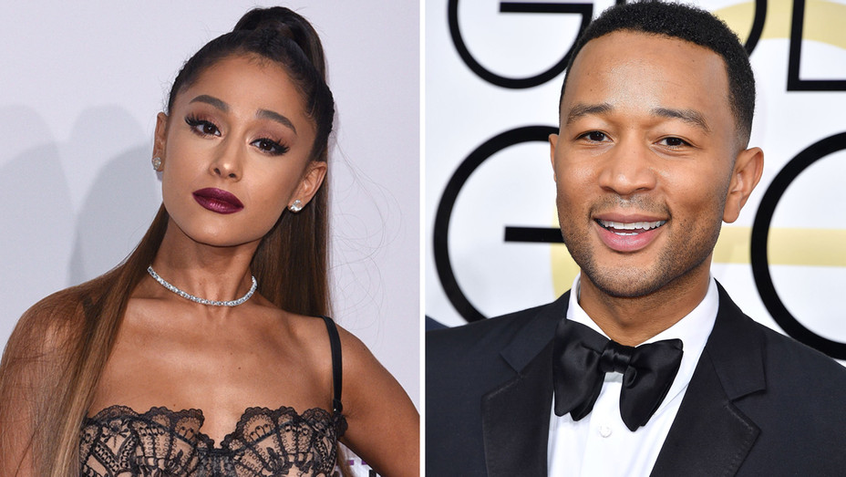 Ariana Grande John Legend - Getty - H Split 2017