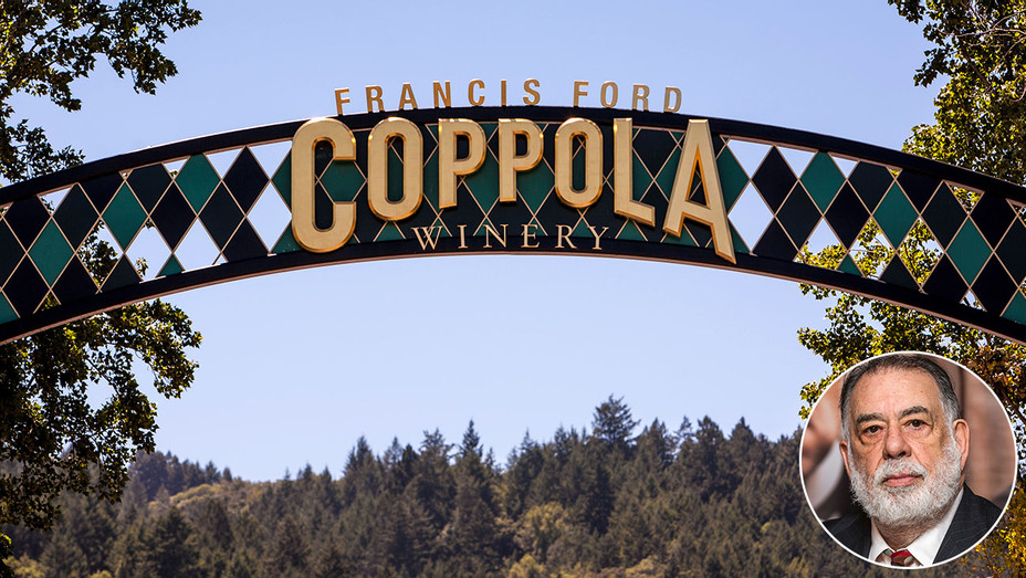Coppola Winery and inset of Francis Ford - Getty- H 2017