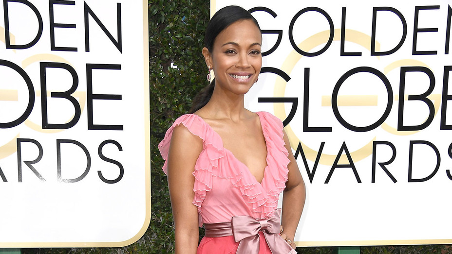 Zoe Saldana attends the 74th Annual Golden Globe Awards - Getty-H 2017