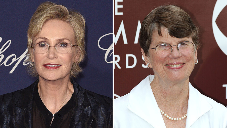 Jane Lynch and Janet Reno_Split - Getty - H 2017