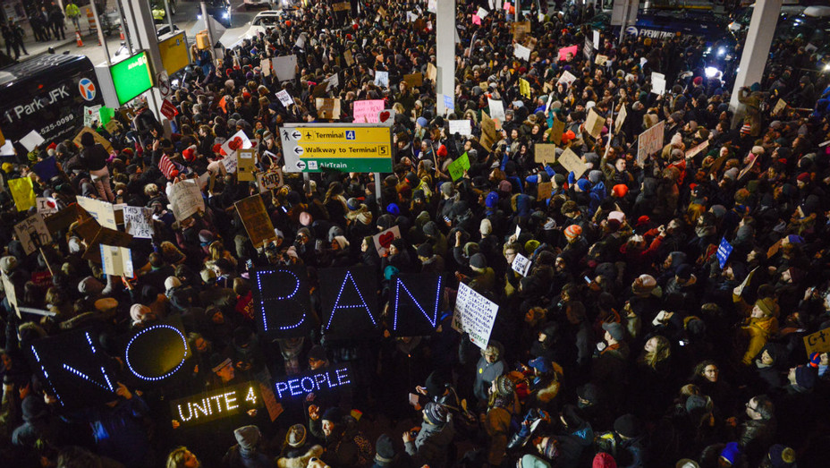 Trump Immigration Ban JFK Protest - Getty - H 2017