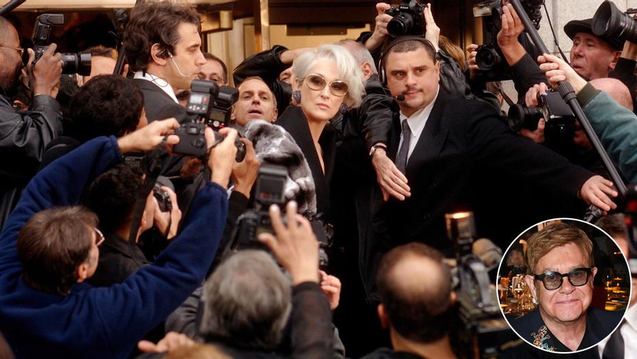 Meryl Streep Devil Wears Prada Elton John Inset - Photofest - H 2017