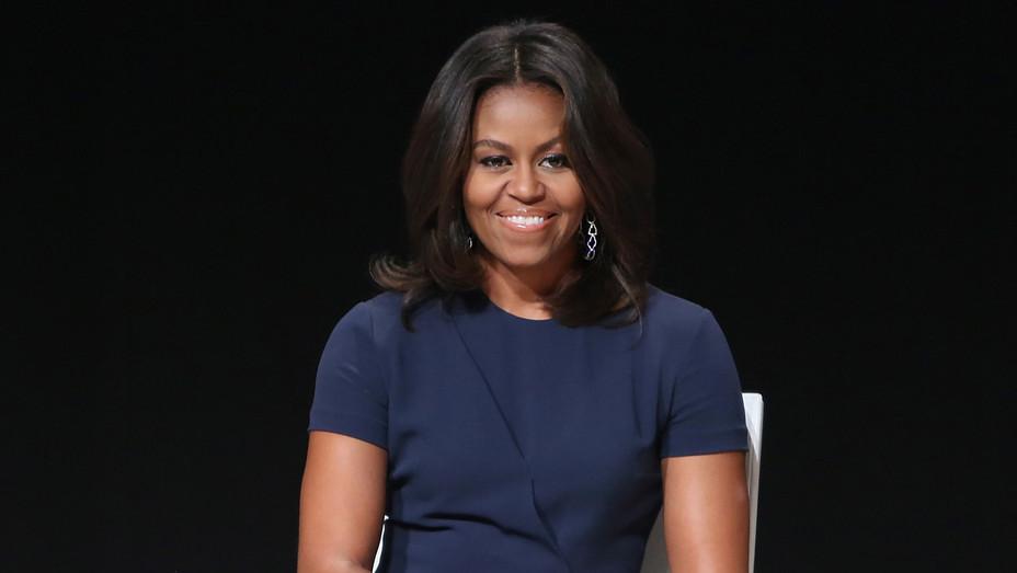 Michelle Obama in Blue - Getty - H 2017