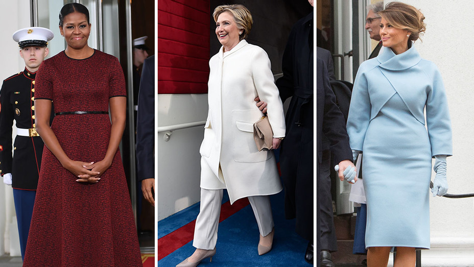 Red White And Blue Makes Unifying Fashion Statement On Inauguration Day Hollywood Reporter