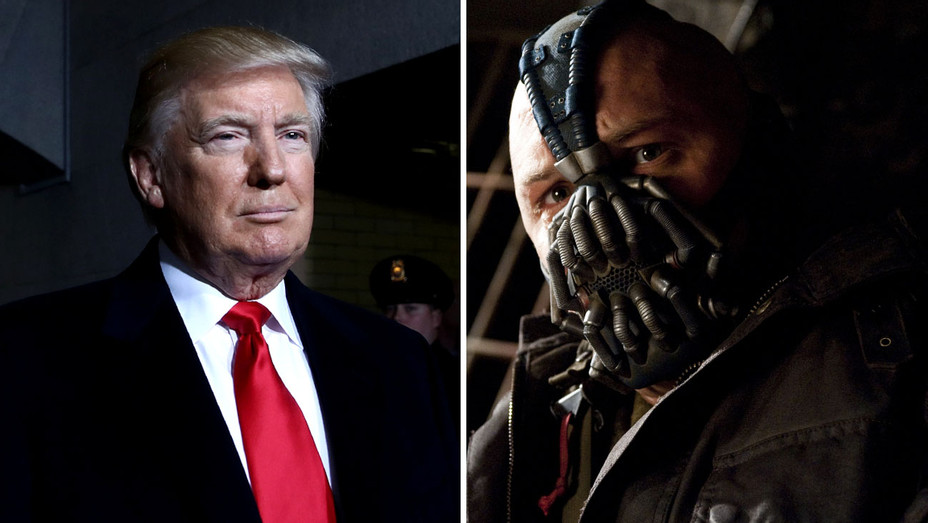 Donald Trump and Tom Hardy as Bane in The Dark Knight Rises - Split-H 2017