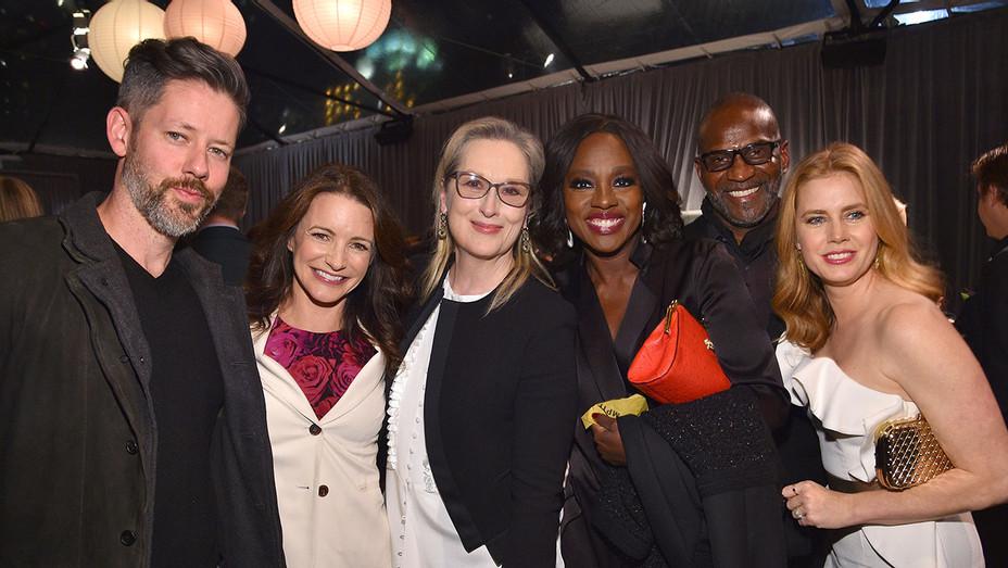 Darren Le Gallo, Kristin Davis, Meryl Streep, Viola Davis, Julius Tennon and Amy Adams
