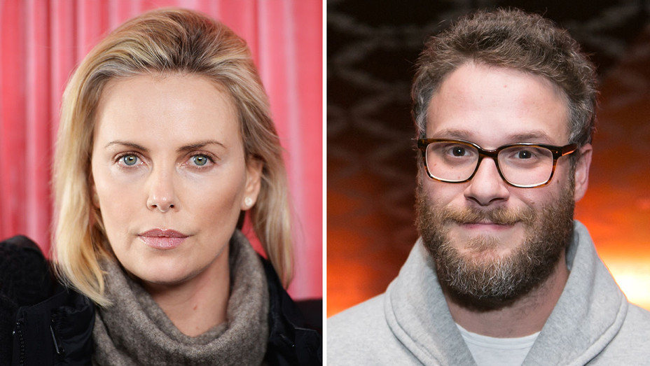 CHARLIZE THERON AND SETH ROGEN_Split - Getty - H 2017