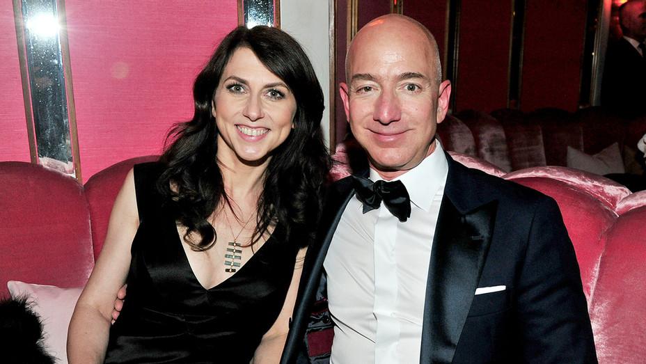 Jeff Bezos and MacKenzie Bezos attend the Amazon Studios Oscar Celebration -Getty-H 2017