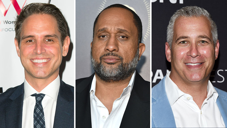 Greg Berlanti, Kenya Barris and Aaron Kaplan- Getty-H 2017