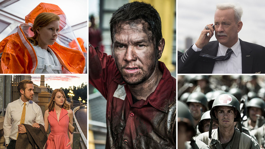 Hacksaw Ridge, Sully, Deepwater Horizon, Arrival and La La Land_Split - Publicity - H 2017