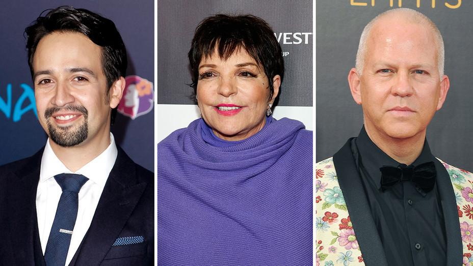 Lin-Manuel Miranda, Liza Minnelli and Ryan Murphy -Split-Getty-H 2017