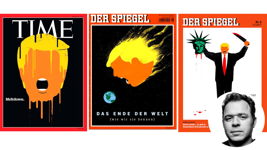 Trump Covers and inset of EDEL RODRIGUEZ - H 2017