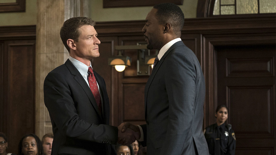CHICAGO JUSTICE  -Episode 107 -Philip Winchester and Richard Brooks -Getty -H 2017