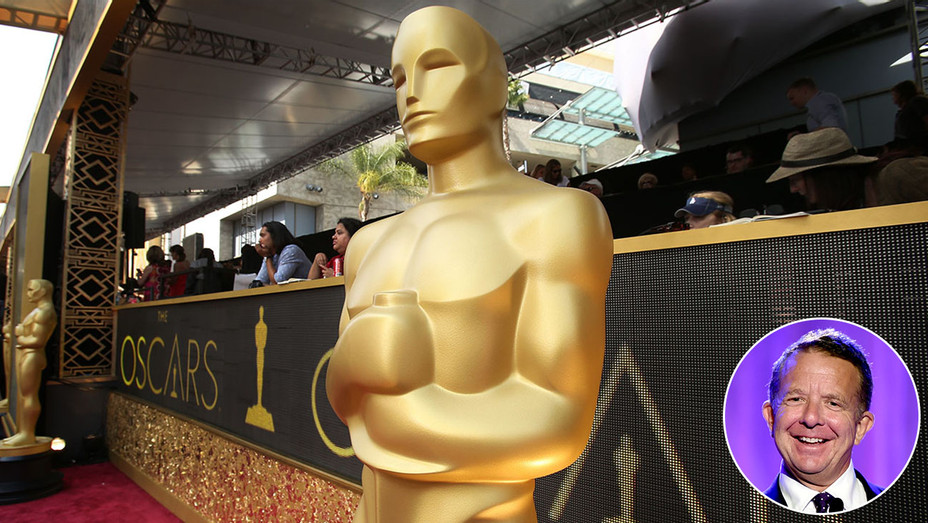 The Oscar Statue  - and inset of Jeremy Zimmer-Getty-H 2017