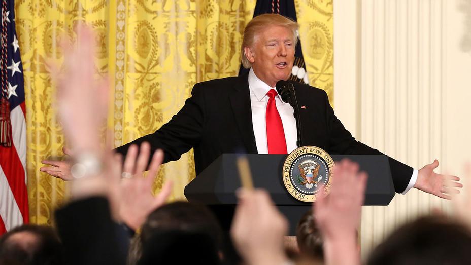 Trump Press Conference FEB 16 - Getty - H 2017