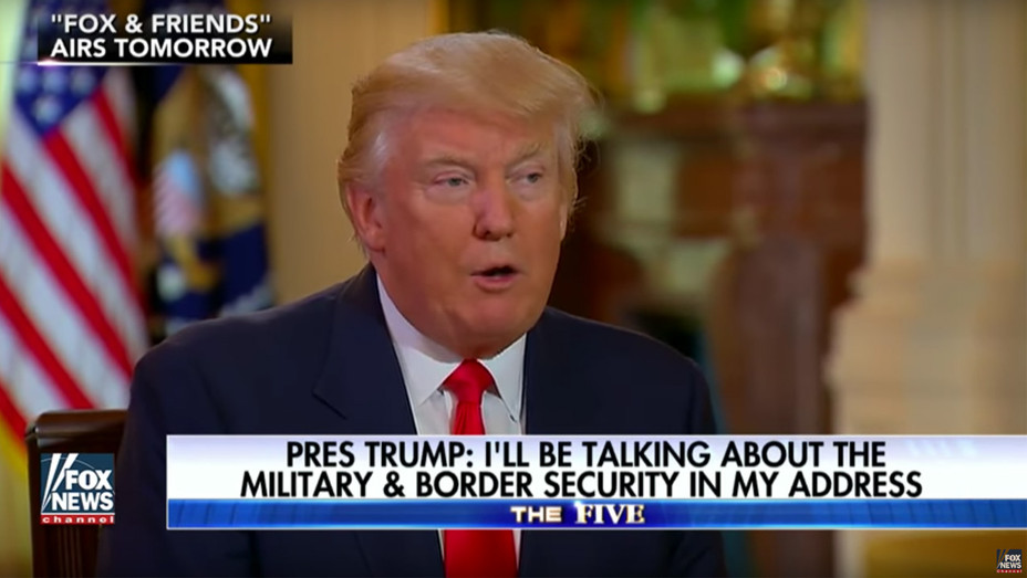 Trump on Fox News - Screengrab - H 2017
